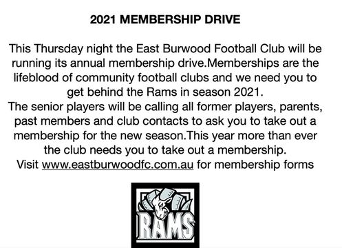 EBFC Membership drive
