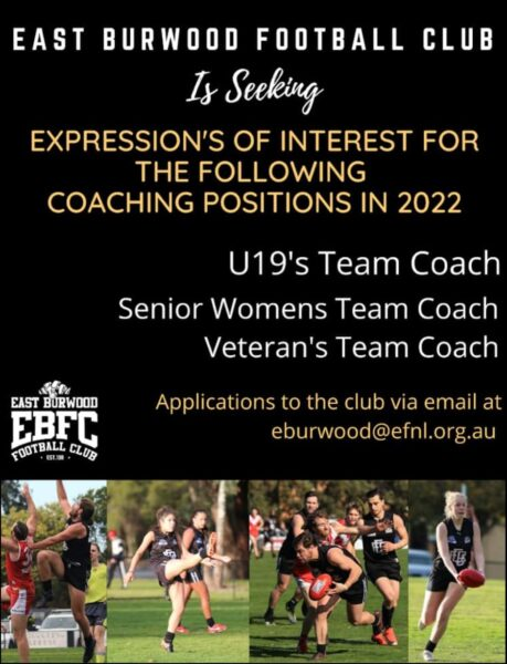 2022 coaches wanted